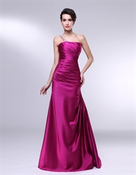 Ruched One Shoulder Prom Dress, Prom Dress With One Shoulder Strap