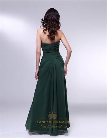 Forest Green Dresses For Bridesmaids Chiffon Sweetheart