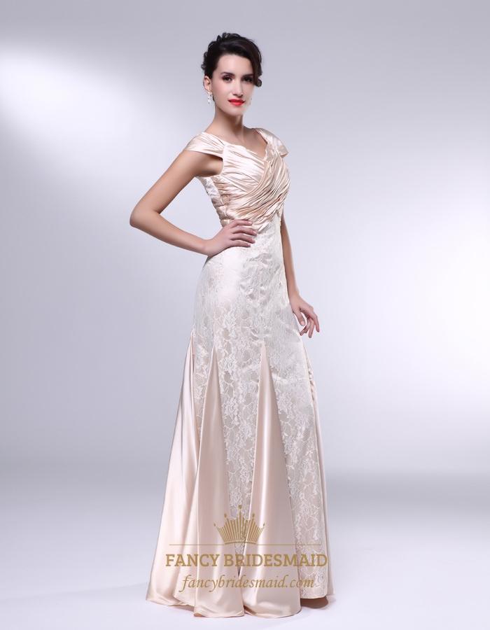 cfb9eb8f684 Pale Pink Lace Prom Dress