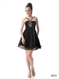 Black Little Dresses For Women, Black Sleeveless Dress With Open Back