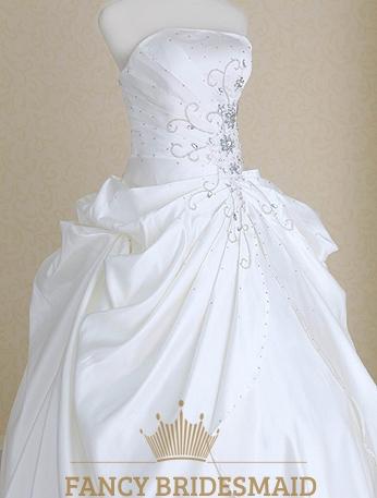 Long White Strapless Sundress