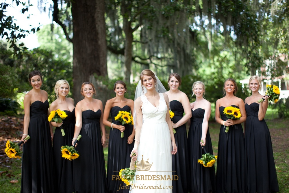 Length Long Bridesmaid Dresses with Sleeves