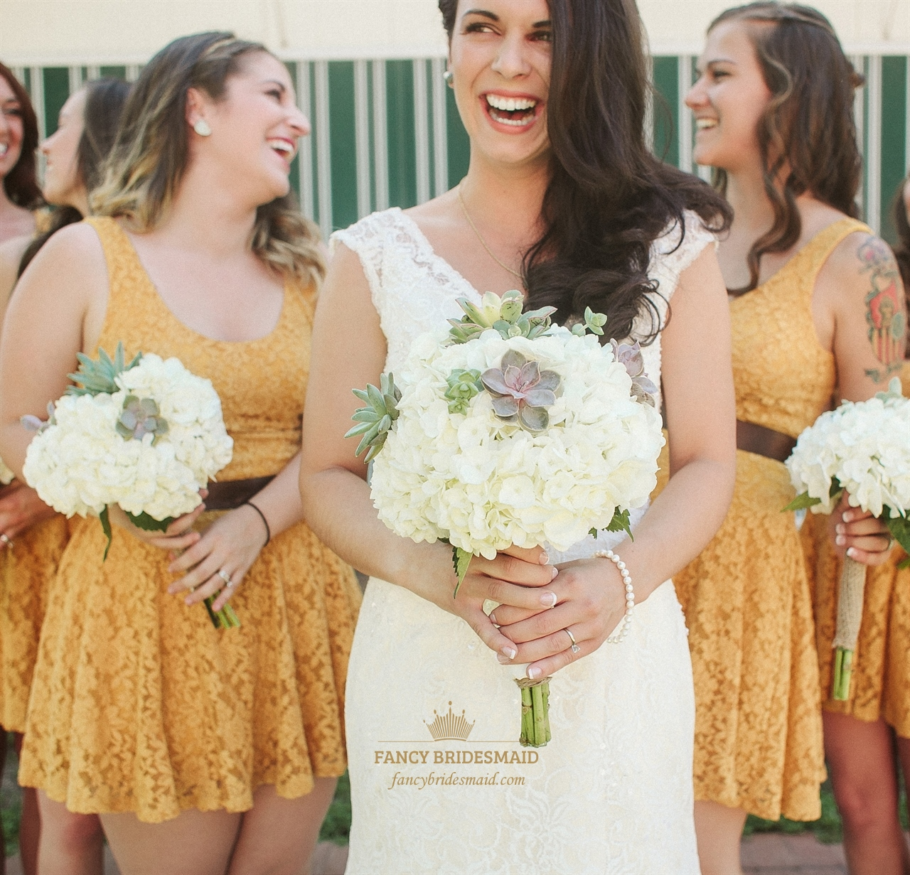 Sunflower yellow bridesmaid dresses fancy bridesmaid dresses cute sunflower yellow sleeveless lace short bridesmaid dress with belt ombrellifo Images