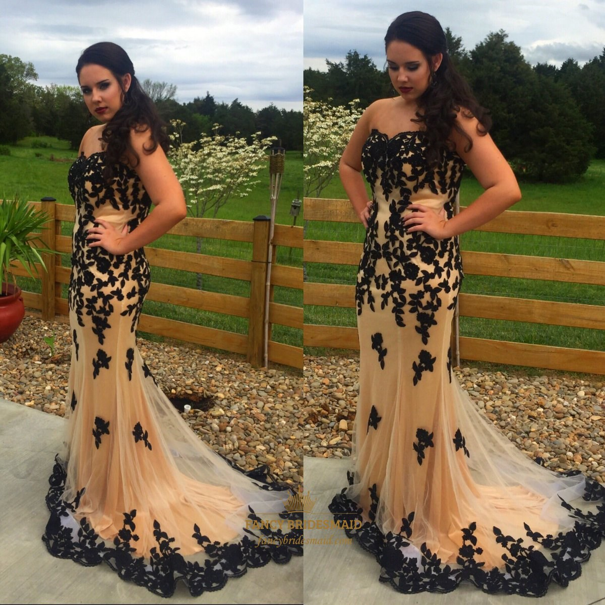 2250a3a7c2 Champagne Strapless Sweetheart Beaded Chiffon Full Length Formal ...