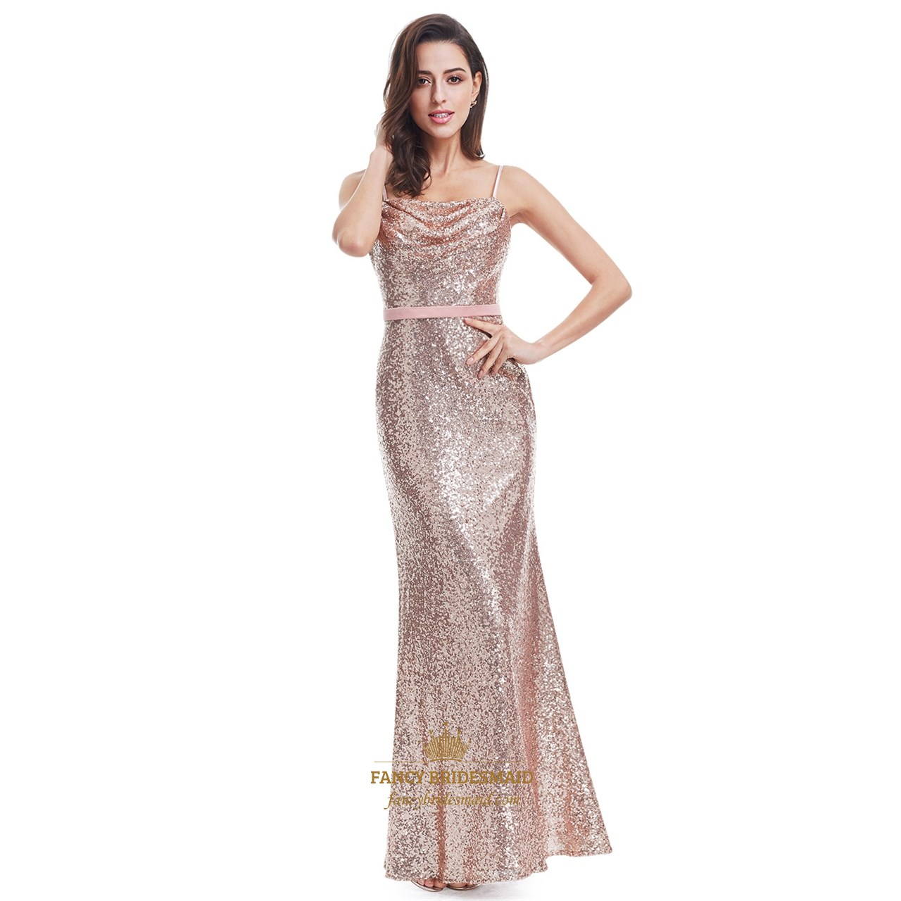 6b45a8b1271 Grey Backless Sleeveless Floor Length V-Neck Sequin Evening Dress SKU -FC845