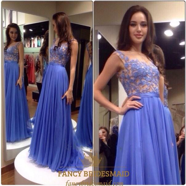 f975ea8383 Lavender Lace Bodice Chiffon A Line Long Bridesmaid Dress SKU -FC971