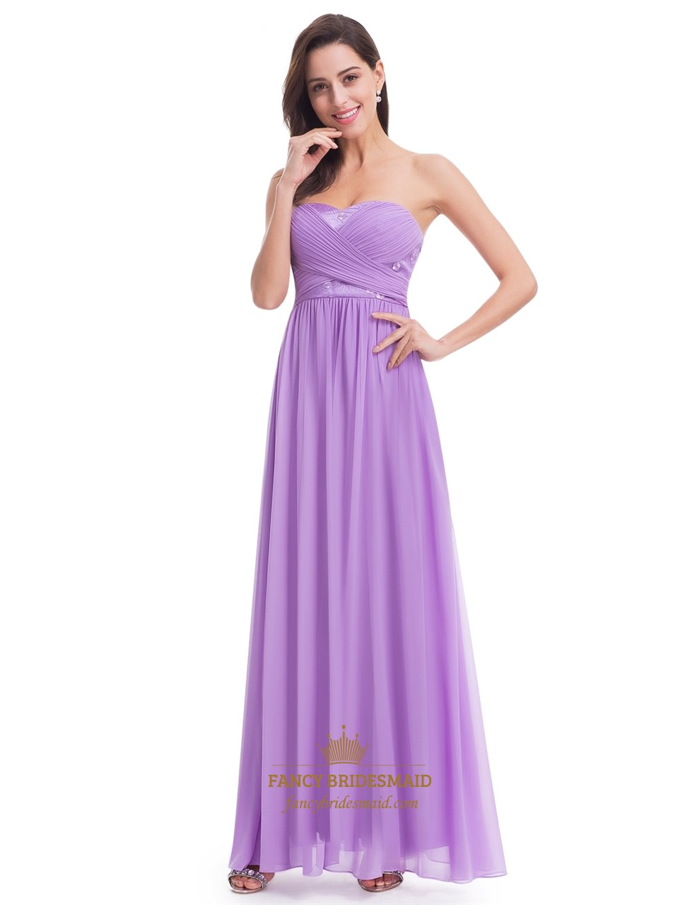 Lavender strapless a line chiffon bridesmaid dress with ruched lavender strapless a line chiffon bridesmaid dress with ruched bodice ombrellifo Image collections