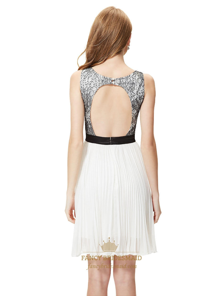 Black And White Lace Top Dress Black Taffeta Lace Top Prom