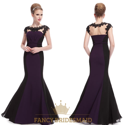 Dark Purple And Black Prom Dresses,Dark Purple Mermaid Prom ...
