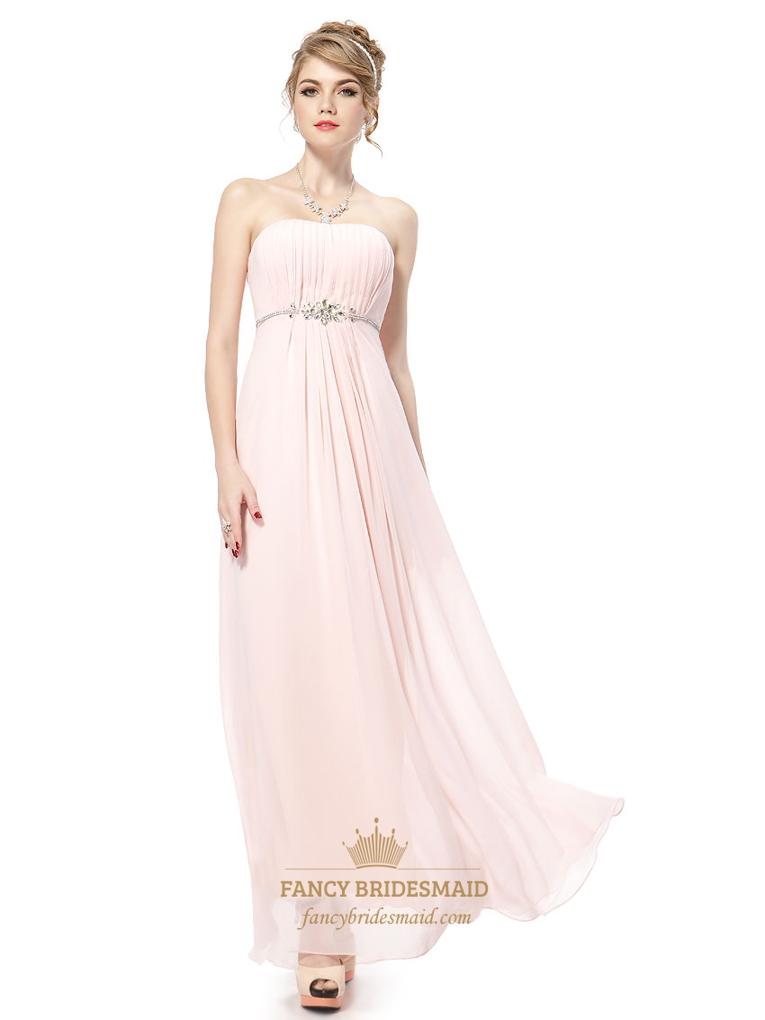 Very light pink bridesmaid dresses chiffon straplesslong pale very light pink bridesmaid dresses chiffon straplesslong pale pink bridesmaid dresses ombrellifo Gallery