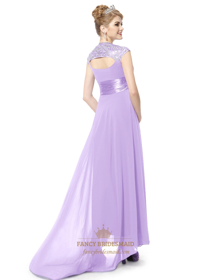 lilac dresses with cap sleeveslilac long prom dresses