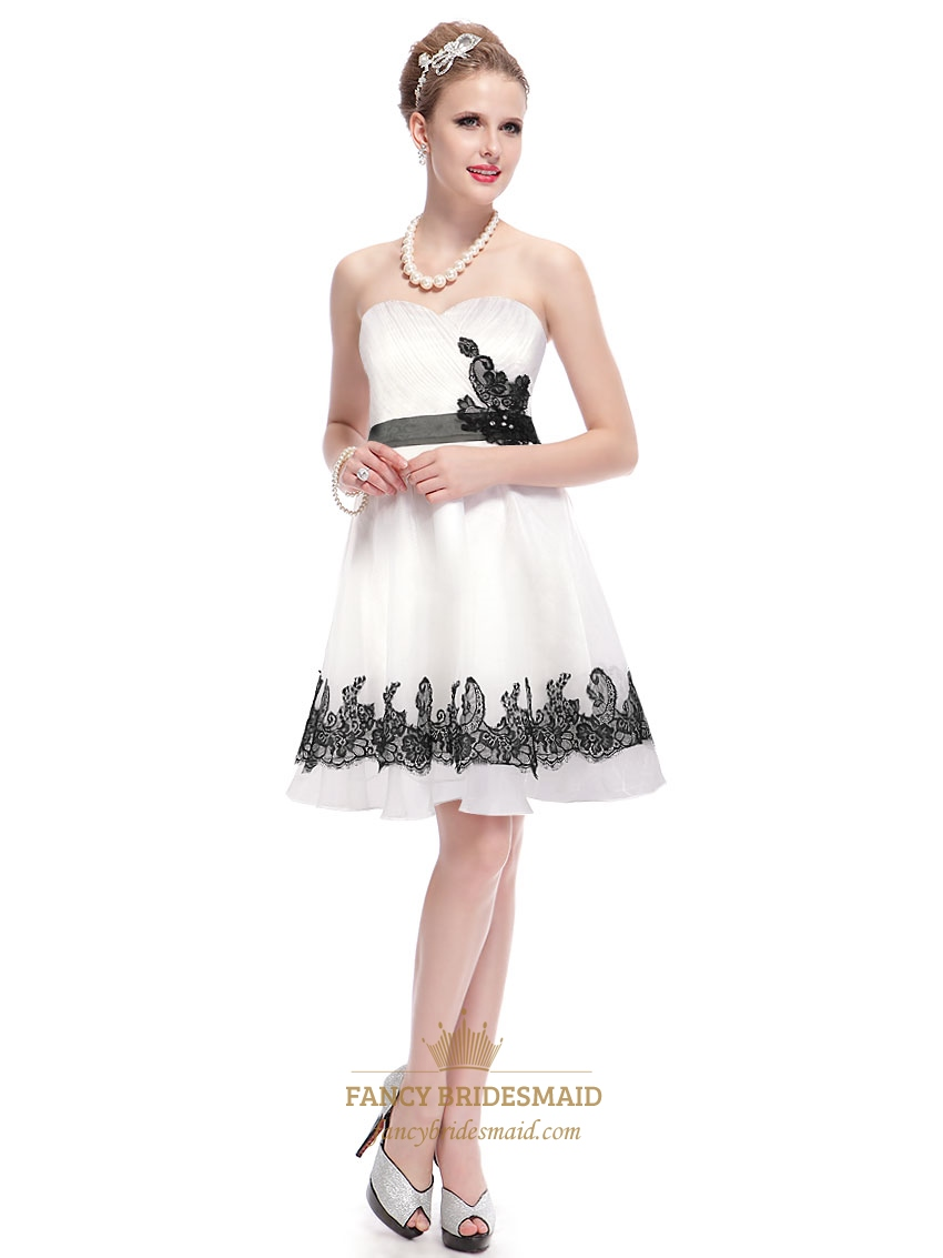 ... Dress With Black Lace,White Graduation Dresses For High School Seniors