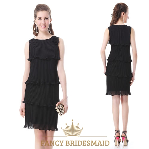 Short Black Flowy Dresseslong Black Pleated Dress Fancy