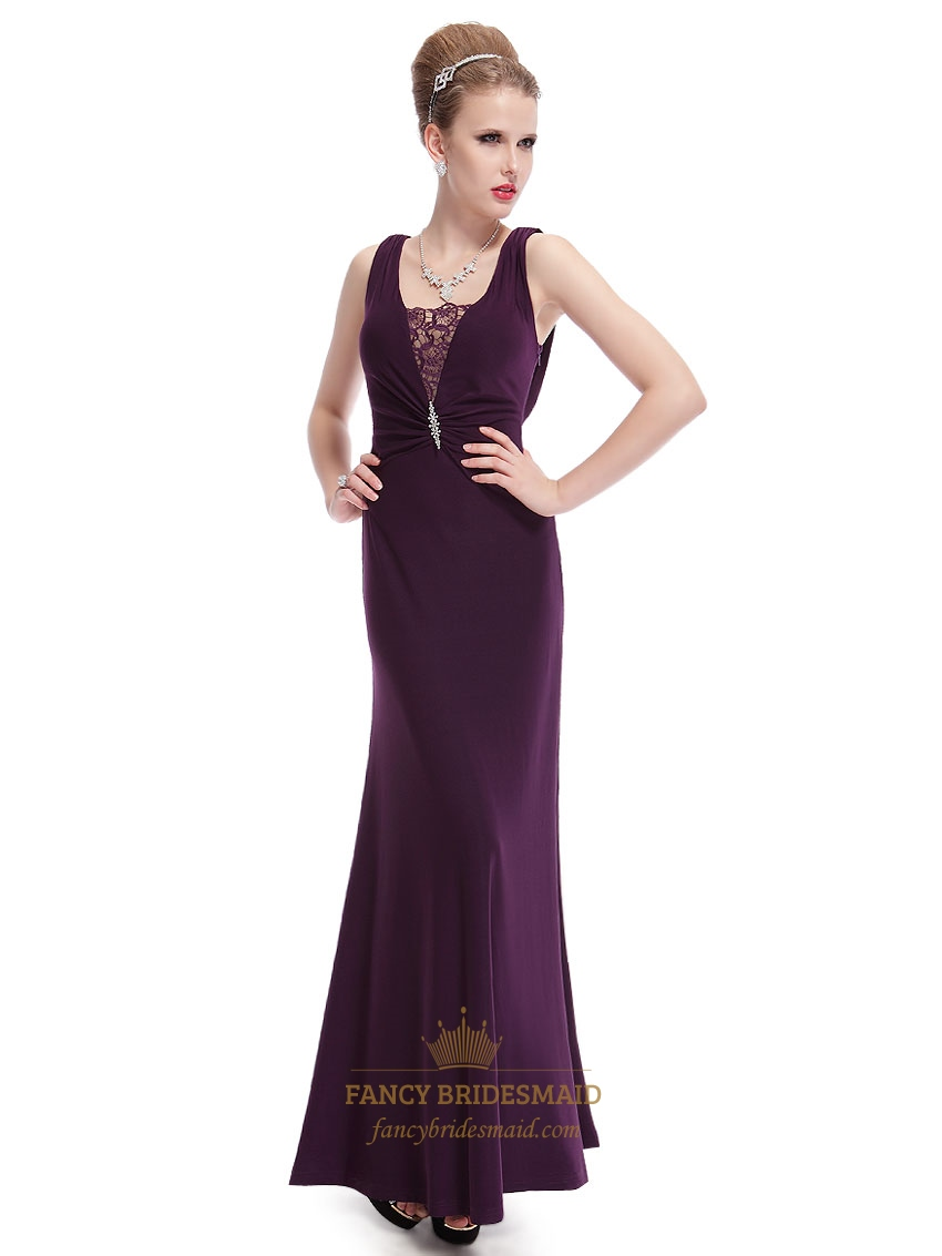 Strapless Long Purple Prom Dresses,Beautiful Celebrity Purple Evening Gown UK