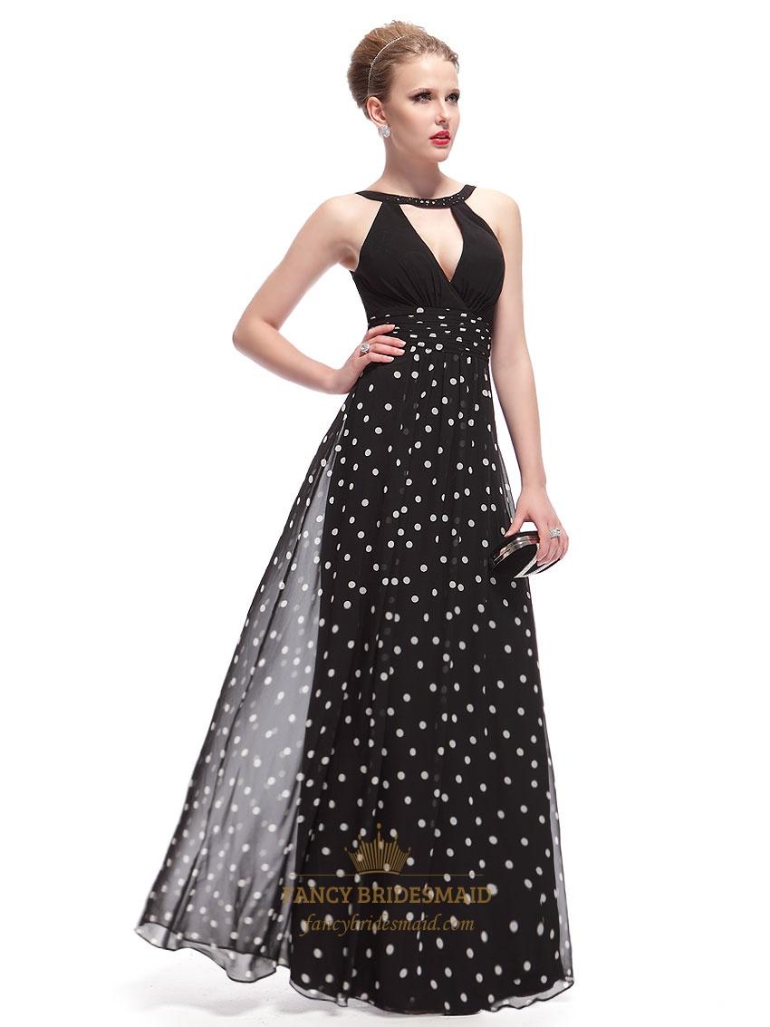 black and white polka dot dress outfitblack halter neck