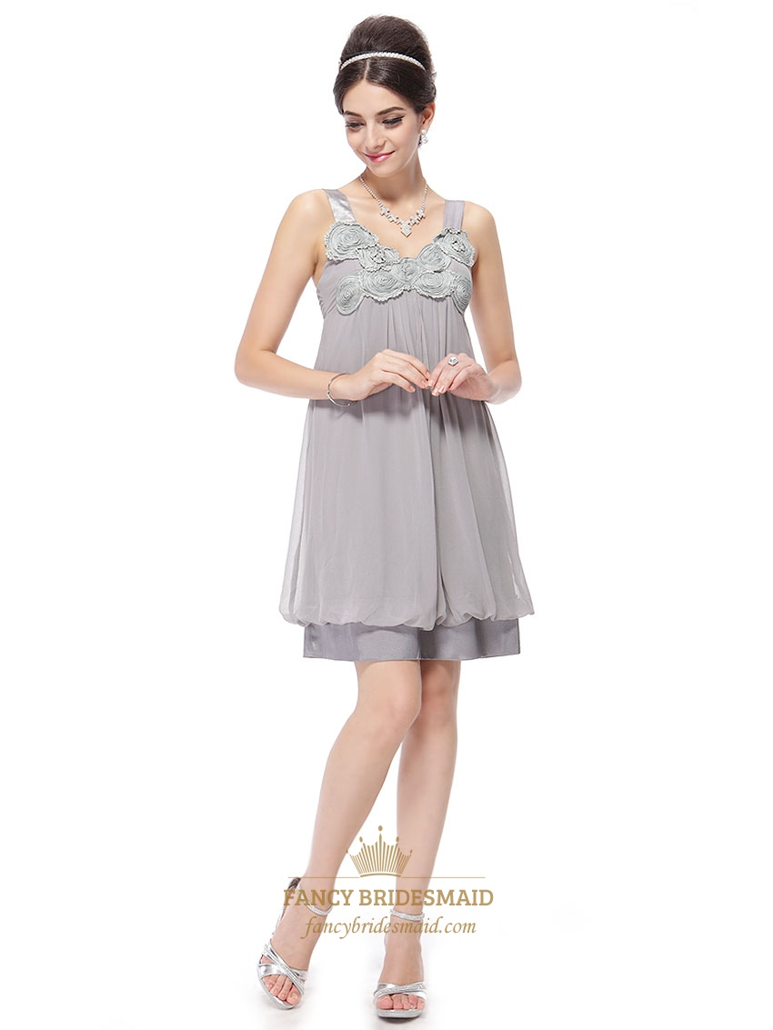 Silver Short Cocktail Dresses