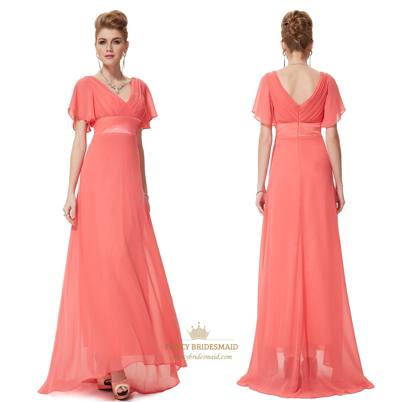 Mother Of The Bride Dresses Peach Color Images