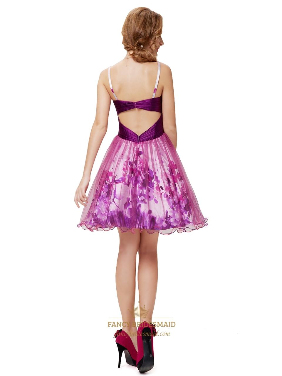 Short Purple Cocktail Dresses For Juniors,Purple ...