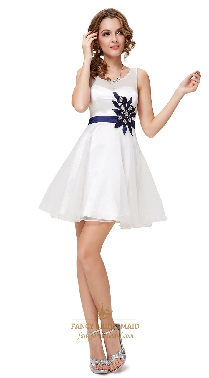... With Cutout Back,White Graduation Dresses For High School Seniors