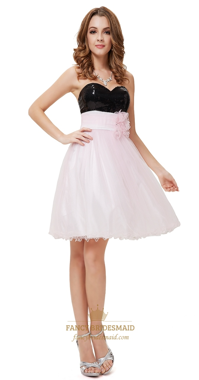 Light pink cocktail dress with black sequin topblack and pink light pink cocktail dress with black sequin topblack and pink cocktail dresses for prom ombrellifo Gallery