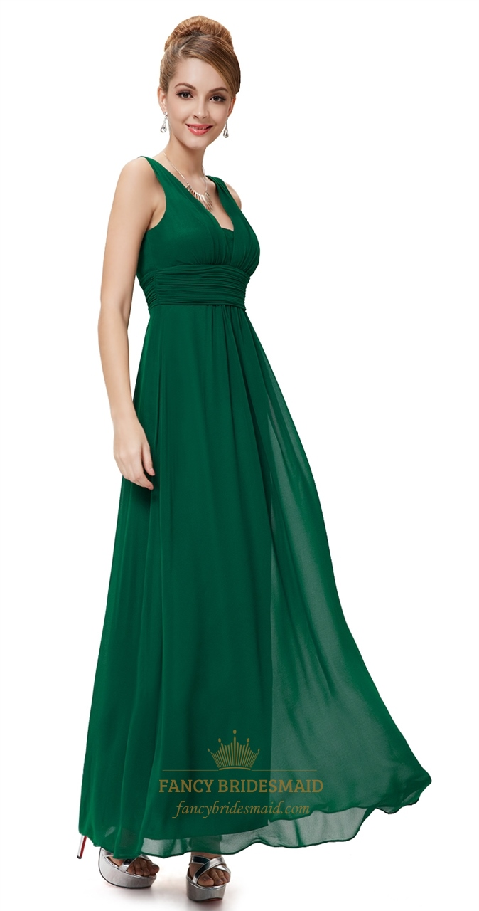 dark forest green prom dress linda dress