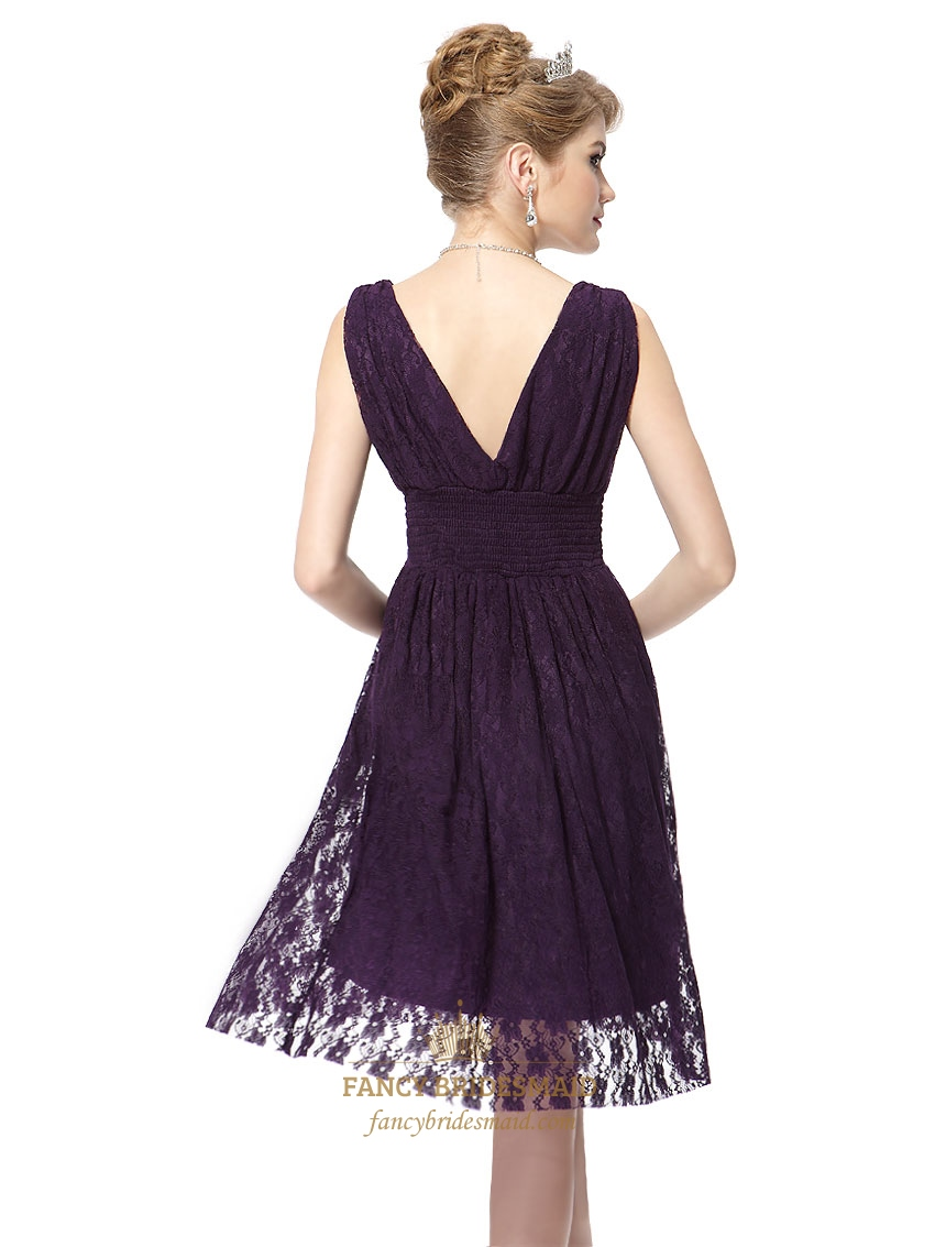 Galerry lace dress in purple