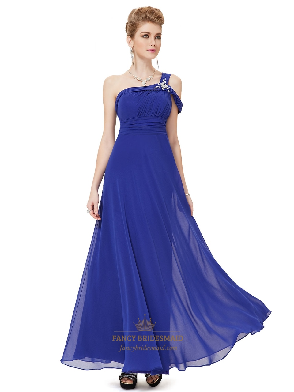 One Shoulder Royal Blue Bridesmaid Evening Prom Ball Dress,One ...