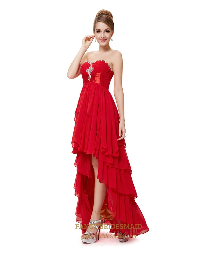 Red High Low Dresses For Teenagers,Red Prom Dresses 2016 High Low ...