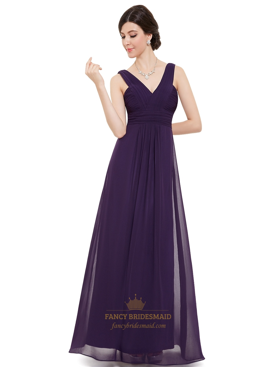 Bridesmaid Dresses V Neck Chiffon 90