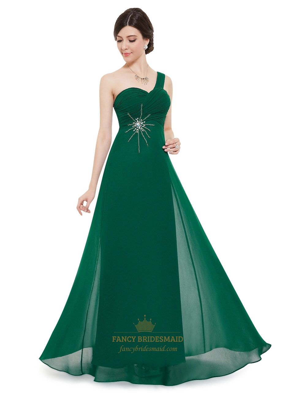 Emerald Green Bridesmaids Dresses with Straps