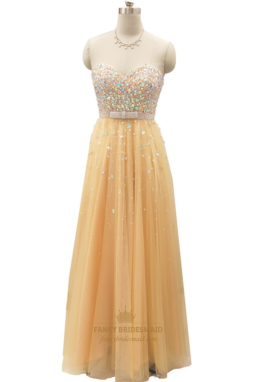 champagne beaded bodice sweetheart neckline strapless