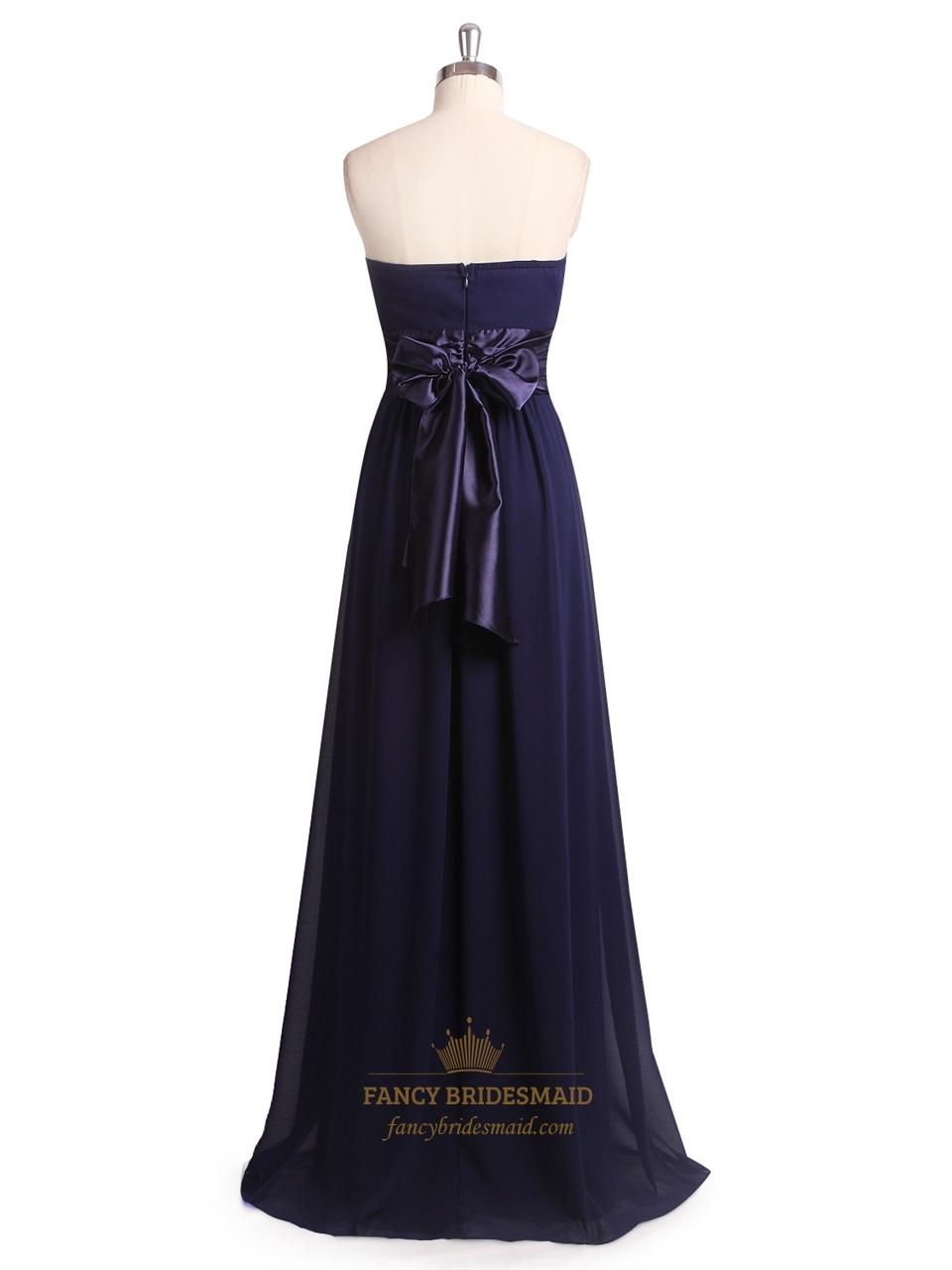 Dark purple strapless ruched chiffon bridesmaid dress for Dark purple dress for wedding