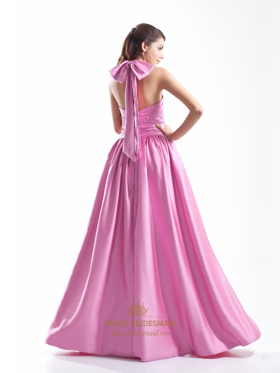 Pink Halter Prom Dresses - Discount Evening Dresses