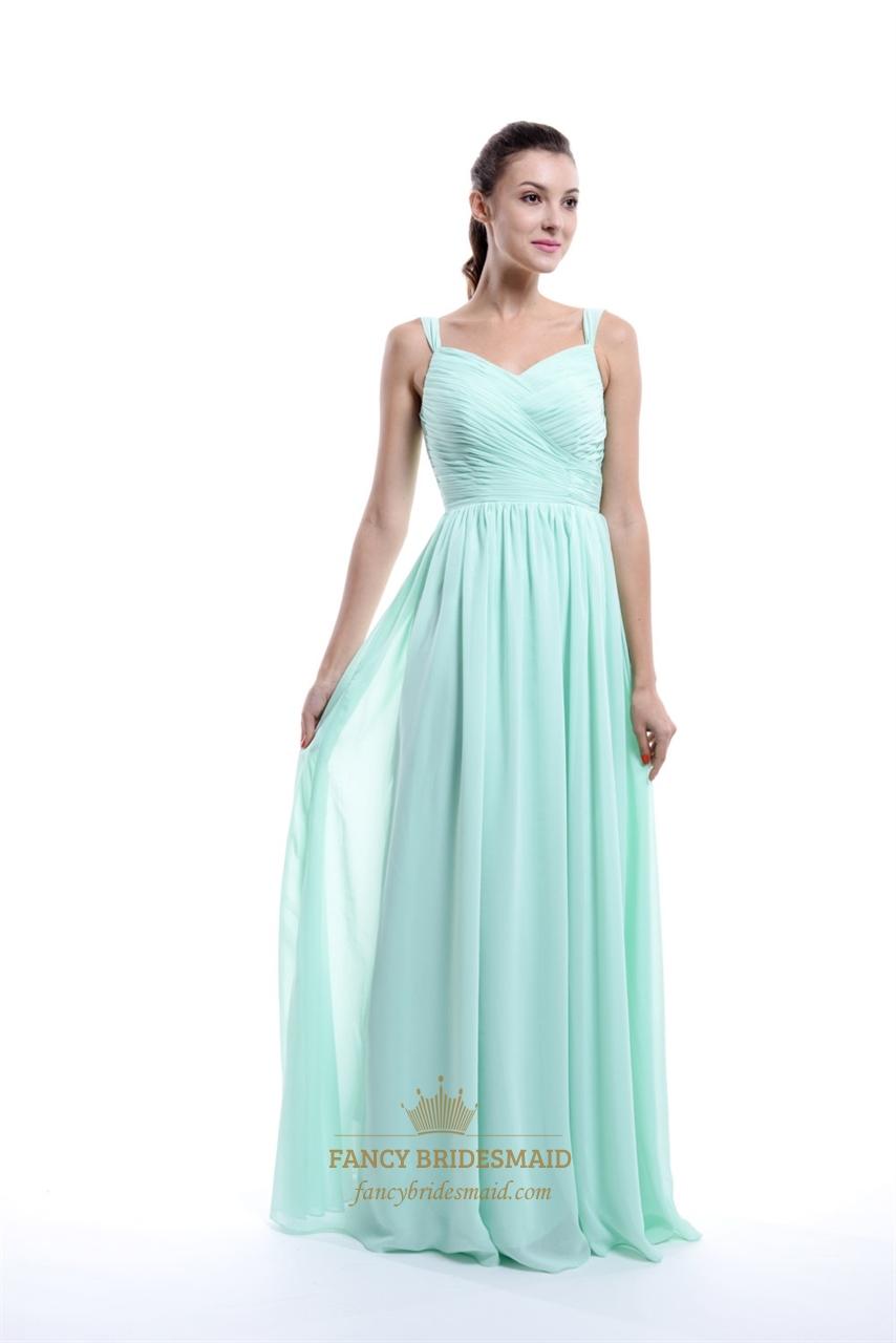 mint green aline sweetheartneck chiffon bridesmaid dress