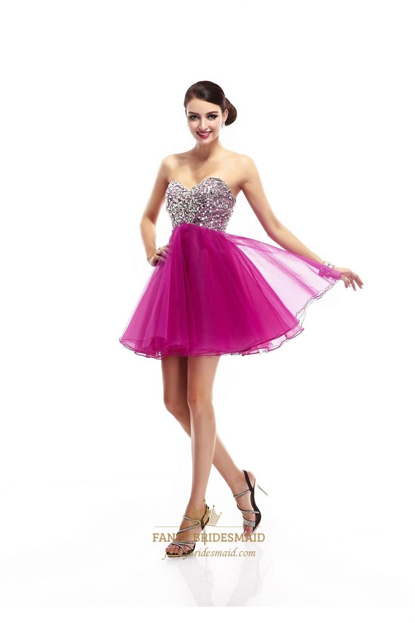 Prom Dresses Hot Pink Short 75