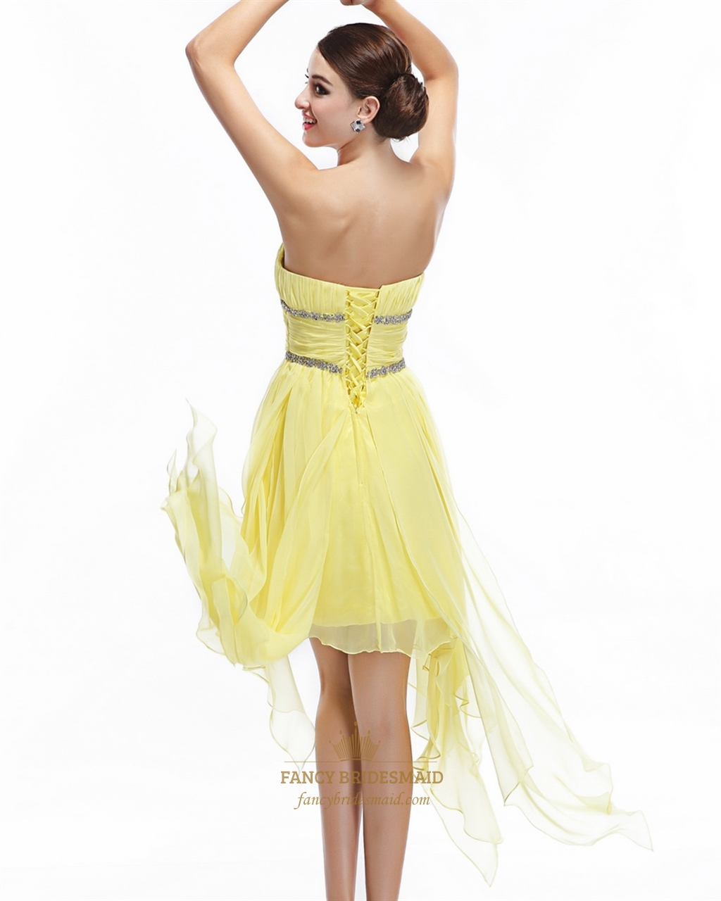 Yellow Beaded Prom Dresses 53