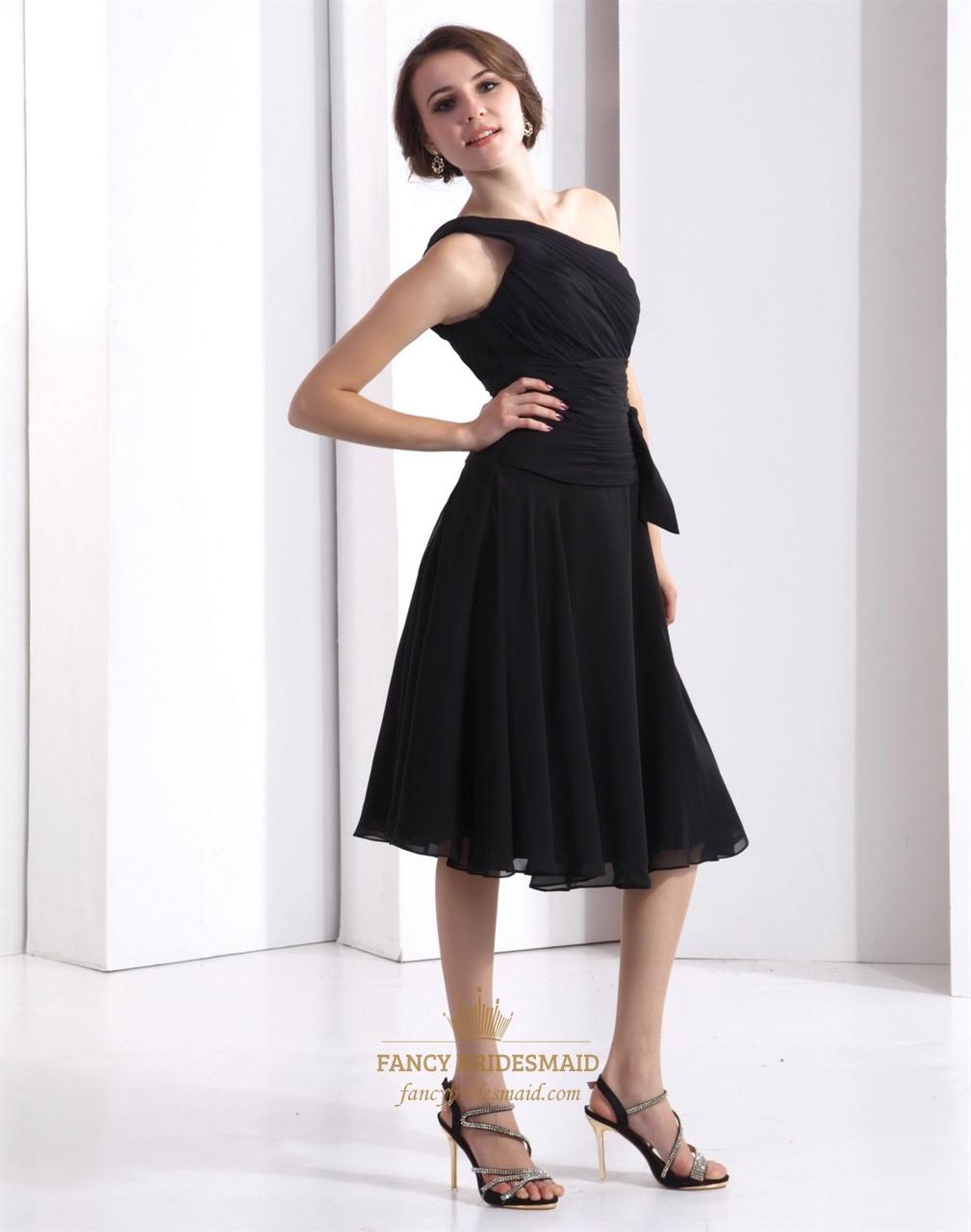 Drop Waist Tea Length Dress