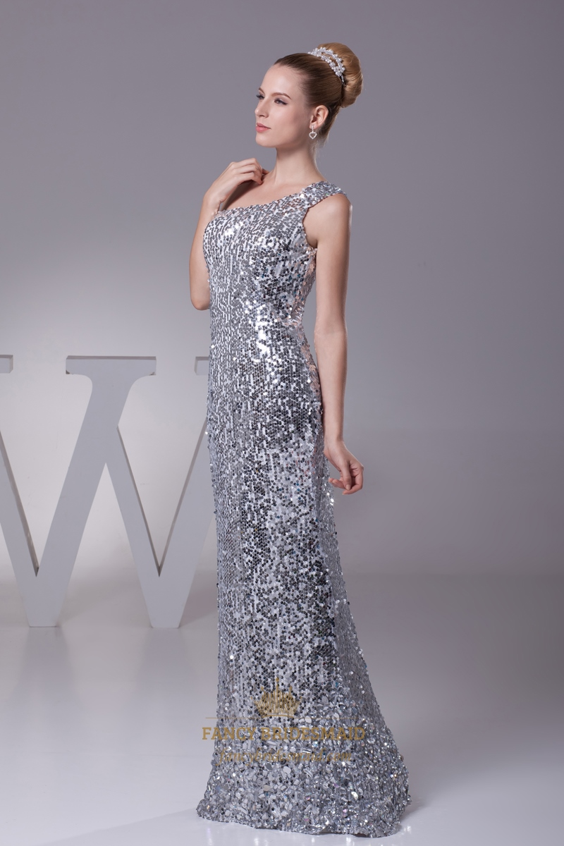 Silver Sequin One Shou...