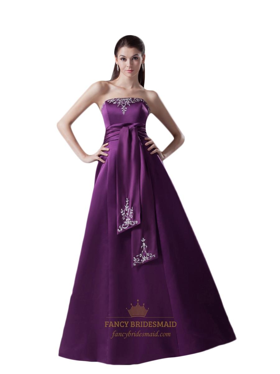 Mother Of The Bride Dresses Dark Purple 54