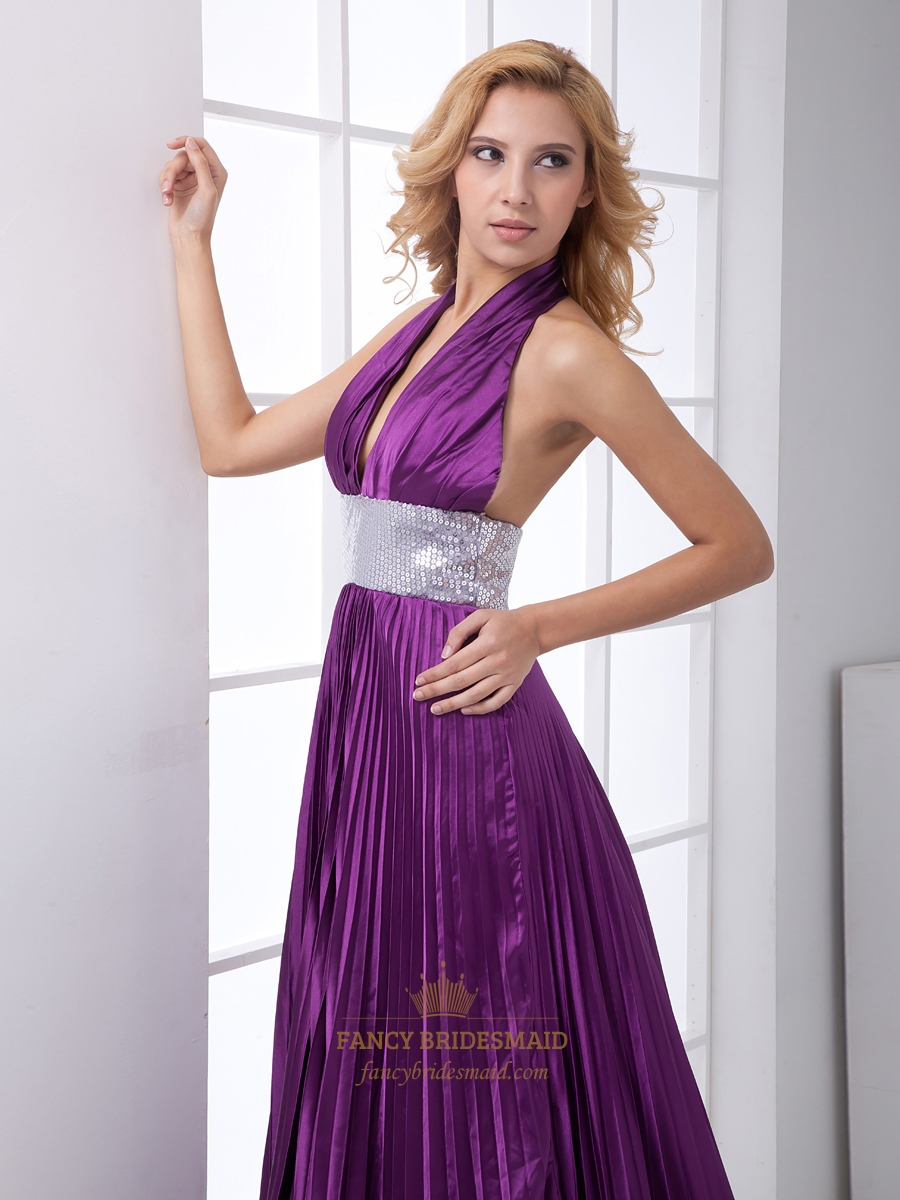 Burgundy Chiffon One Shoulder Ankle Length Bridesmaid Dress With Bow ...