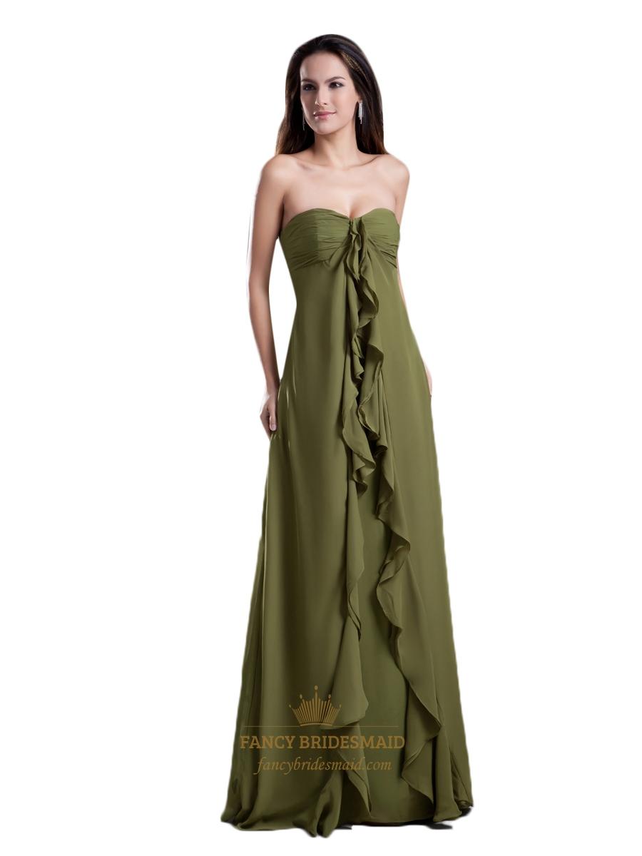 Olive Green Formal Wear Dresses