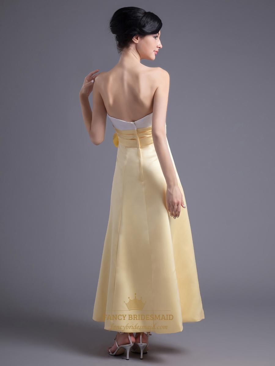 Yellow And White Bridesmaid Dresses 53