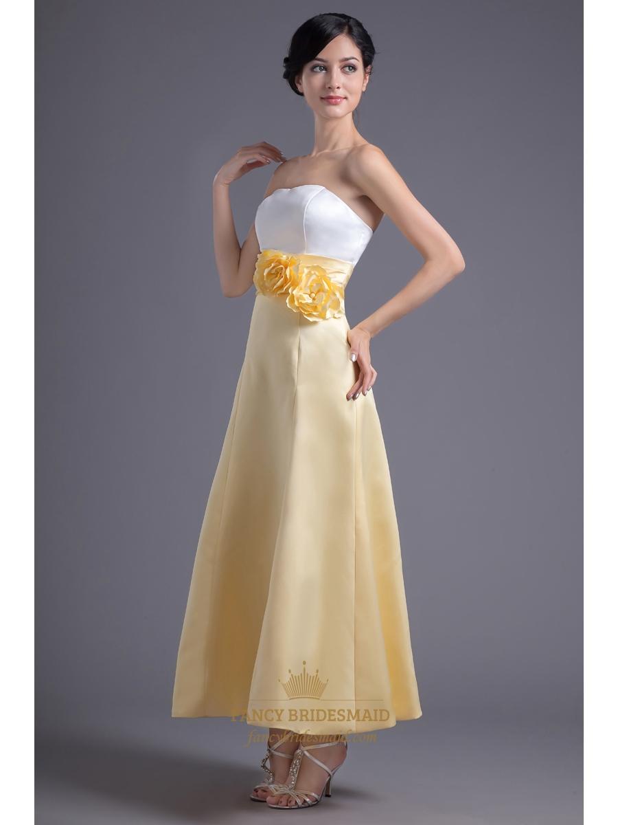 Yellow And White Bridesmaid Dresses 23