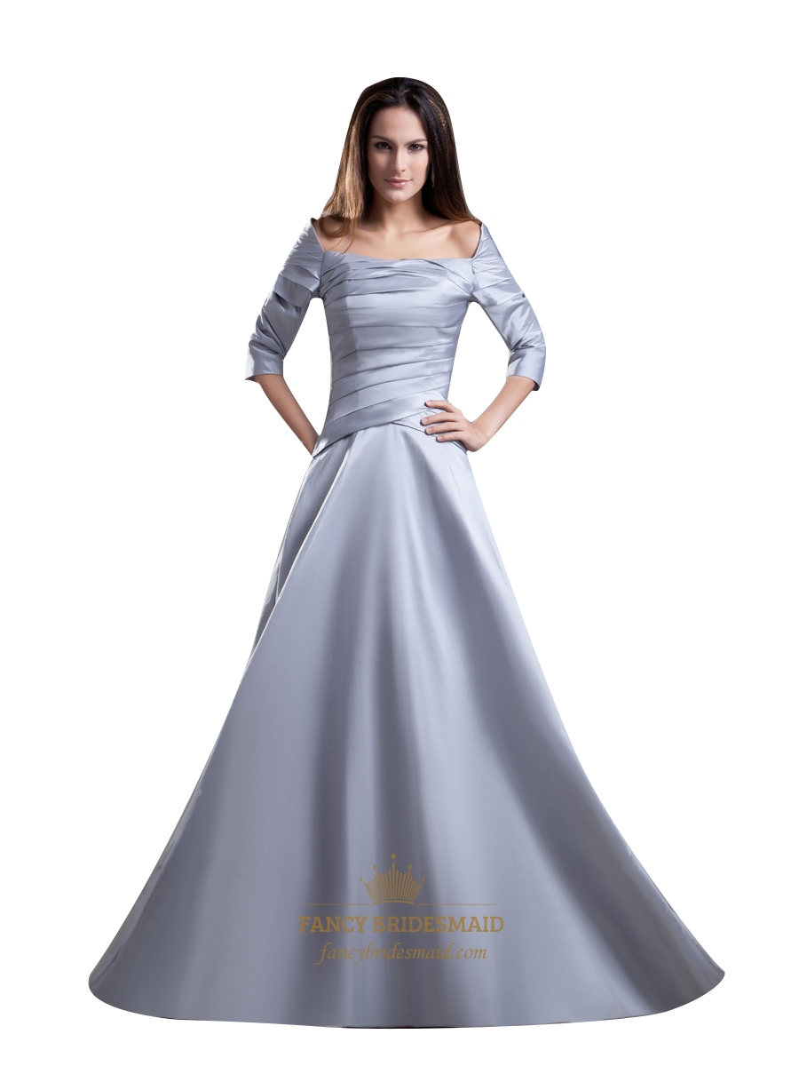 silver gown with sleeves wwwimgkidcom the image kid