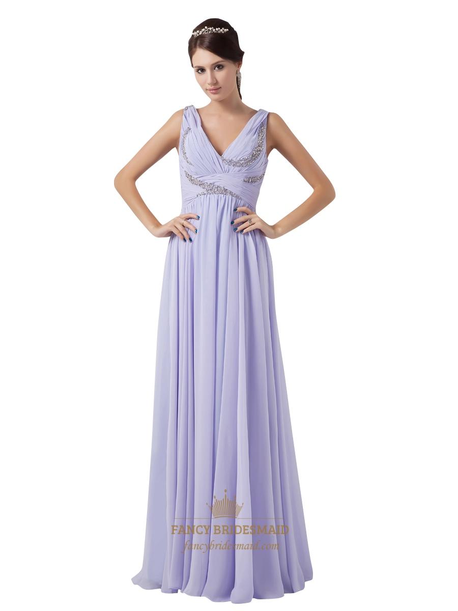 Lilac v neck chiffon ruched bodice bridesmaid dresses with beaded lilac v neck chiffon ruched bodice bridesmaid dresses with beaded detail ombrellifo Gallery