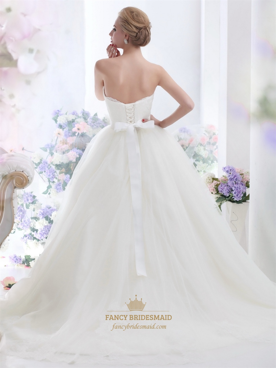 Wedding gown lace bodice tulle skirt wedding dresses asian for How do you preserve a wedding dress