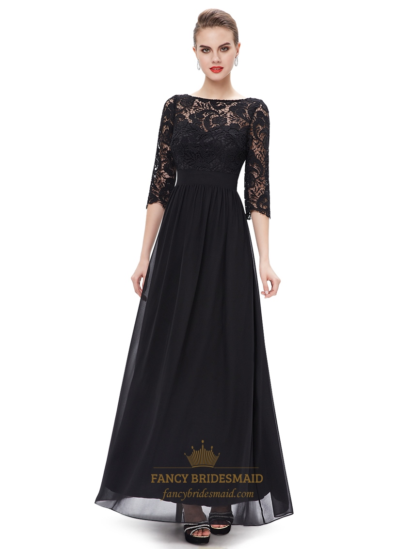 elegant black lace dresses - photo #19