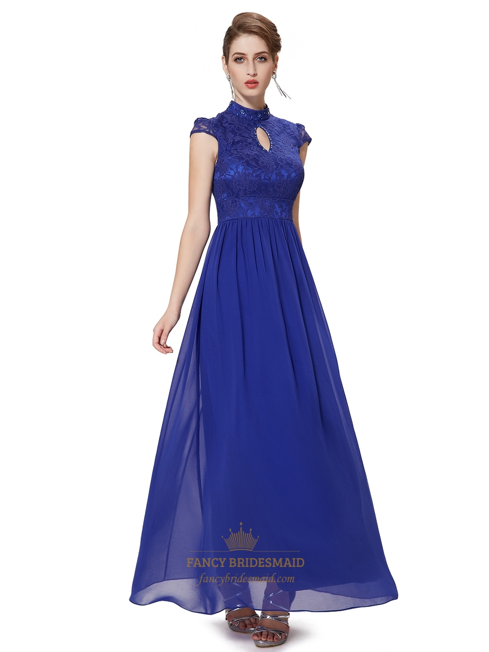 Royal Blue Lace Bodice...