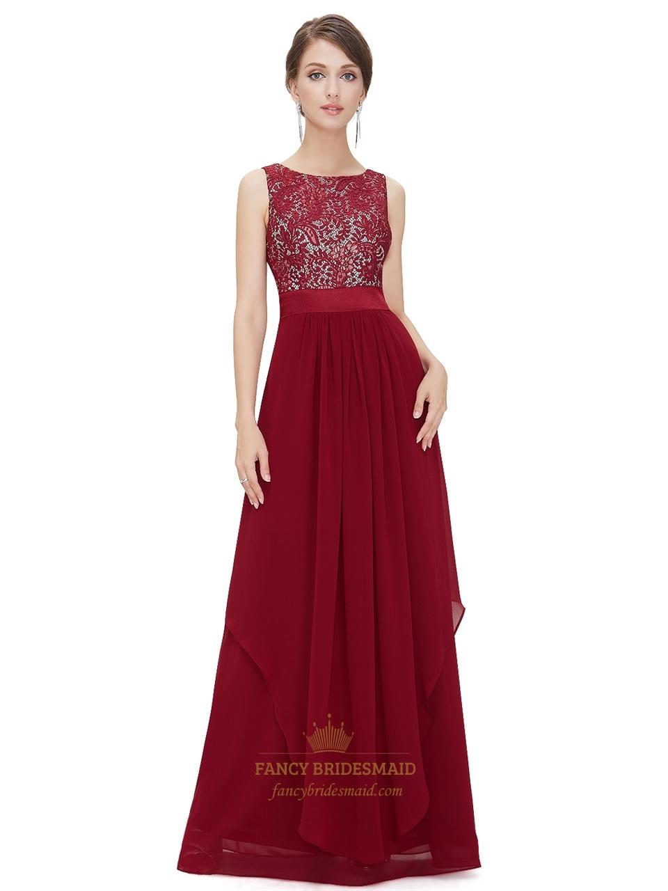 dress style 693 lace and chiffon maxi