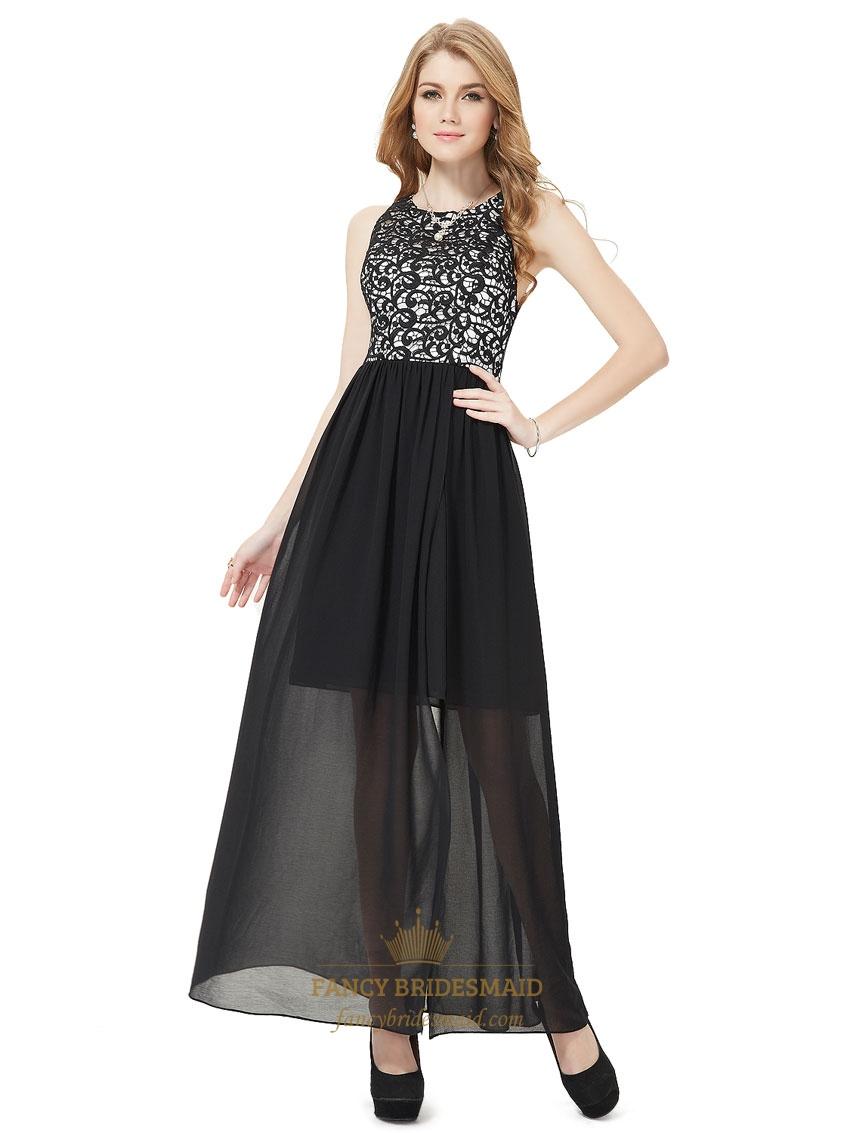 Lace Chiffon Bridesmaid Gowns